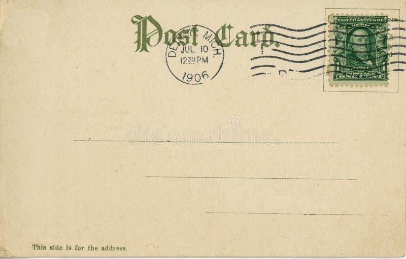 Uitstekende prentbriefkaar 1906 royalty-vrije stock foto