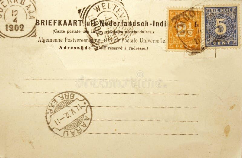 Uitstekende prentbriefkaar van 1902 royalty-vrije stock fotografie