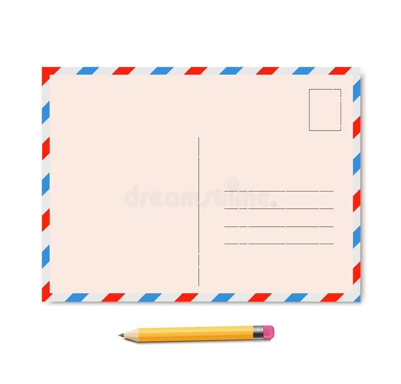 Uitstekende prentbriefkaarvector stock illustratie
