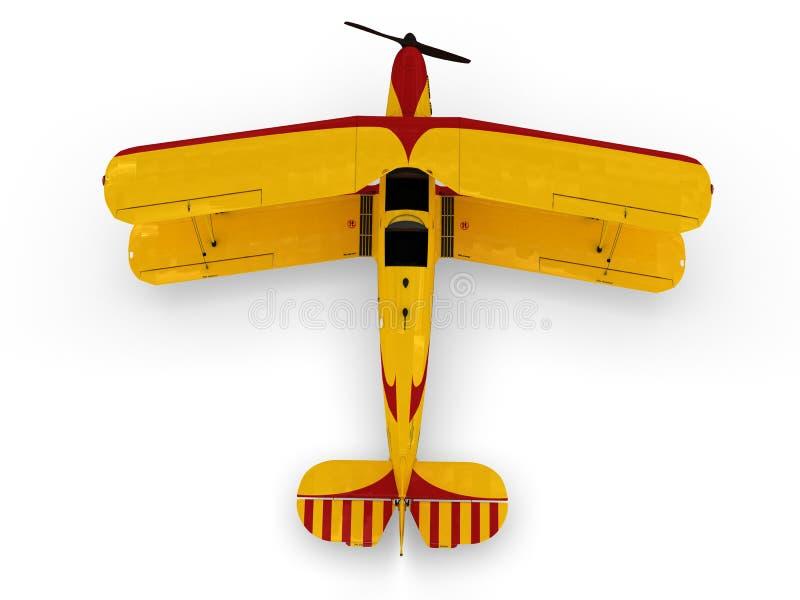 Uitstekende propellertweedekker vector illustratie