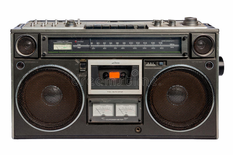 Uitstekende radiocassetterecorder royalty-vrije stock fotografie