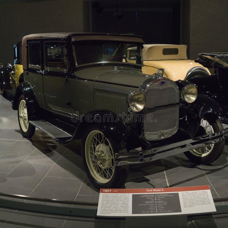 Uitstekende Retro Auto Ford Model A bij het Museum stock afbeeldingen