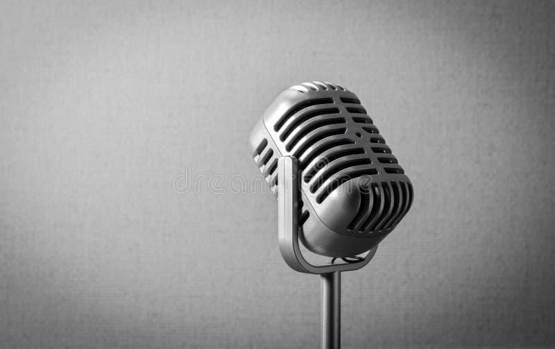 Uitstekende retro microfoon royalty-vrije stock foto's