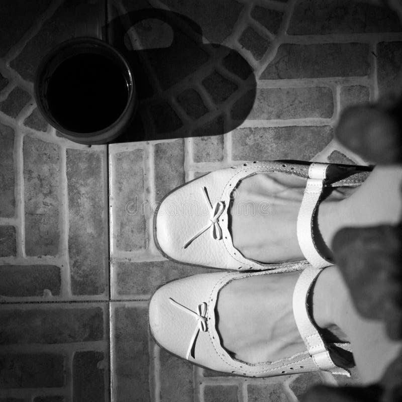 Uitstekende retro schoenen stock foto