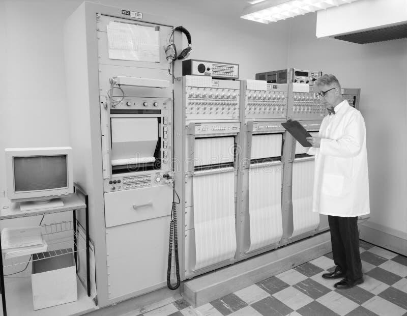 Uitstekende Retro Technologie, Ingenieur, Wetenschapper royalty-vrije stock afbeelding