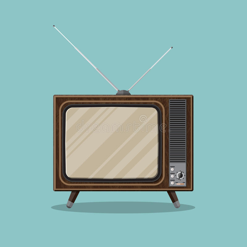 Uitstekende Retro TV royalty-vrije illustratie