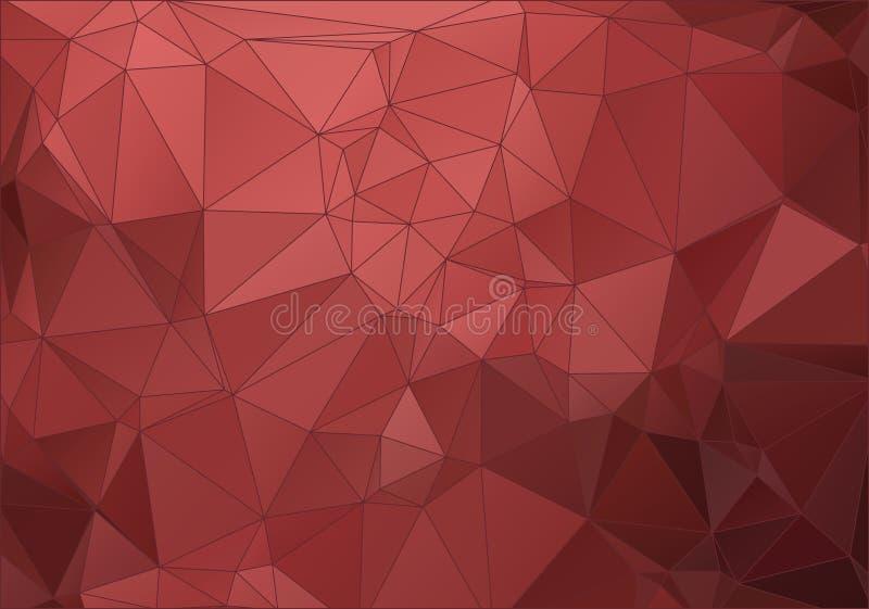Uitstekende rode abstracte veelhoekige achtergrond voor Web vector illustratie