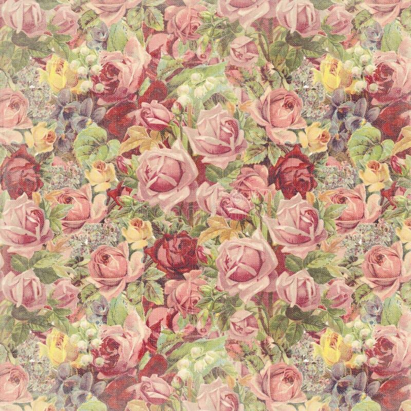 Uitstekende Rose Background stock afbeeldingen