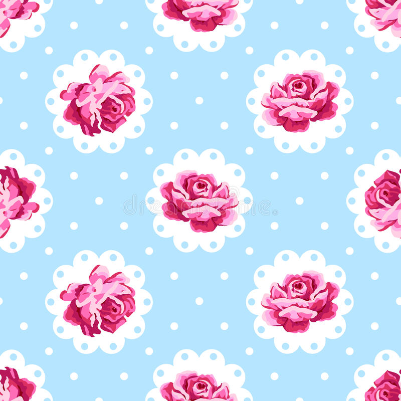 Uitstekende Rose Pattern vector illustratie