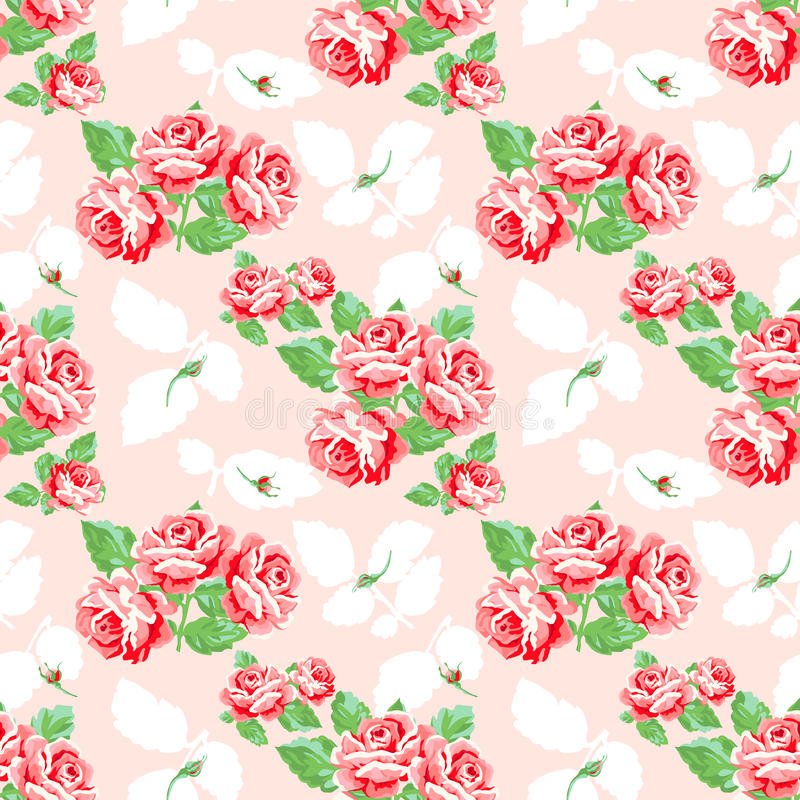 Uitstekende Rose Pattern stock illustratie