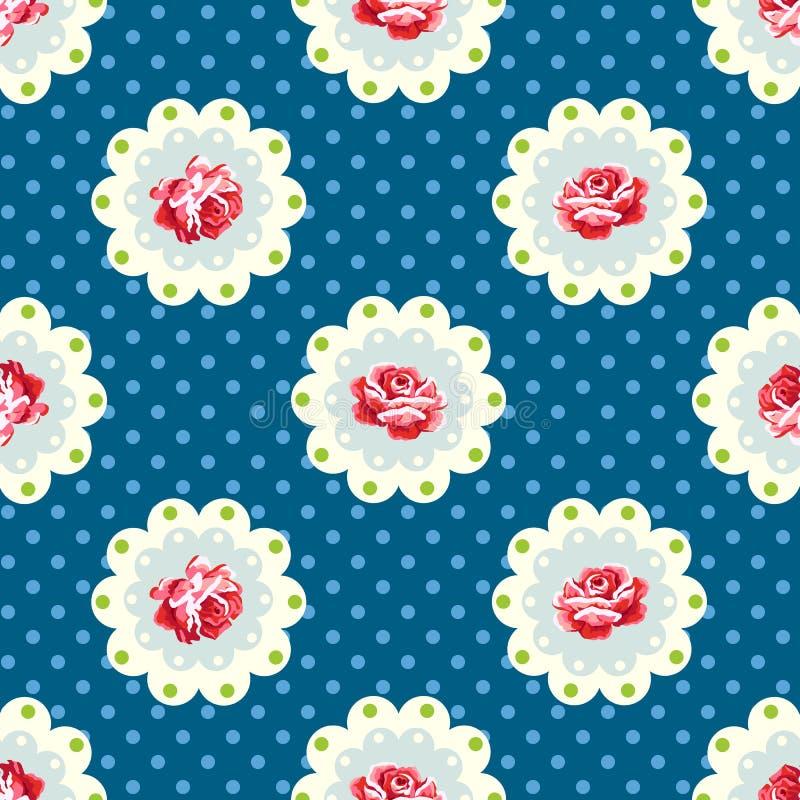 Uitstekende Rose Pattern stock illustratie