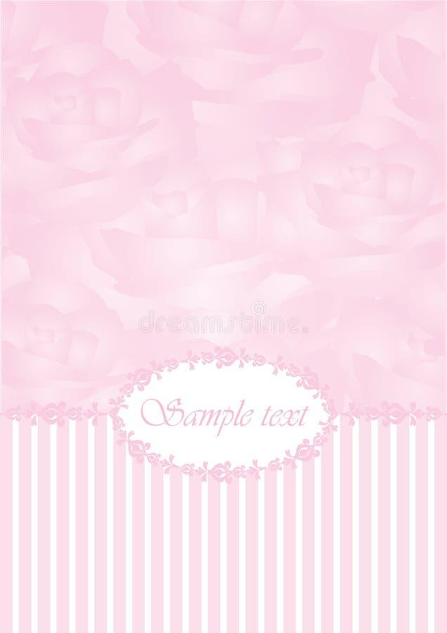 Uitstekende roze achtergrond stock illustratie