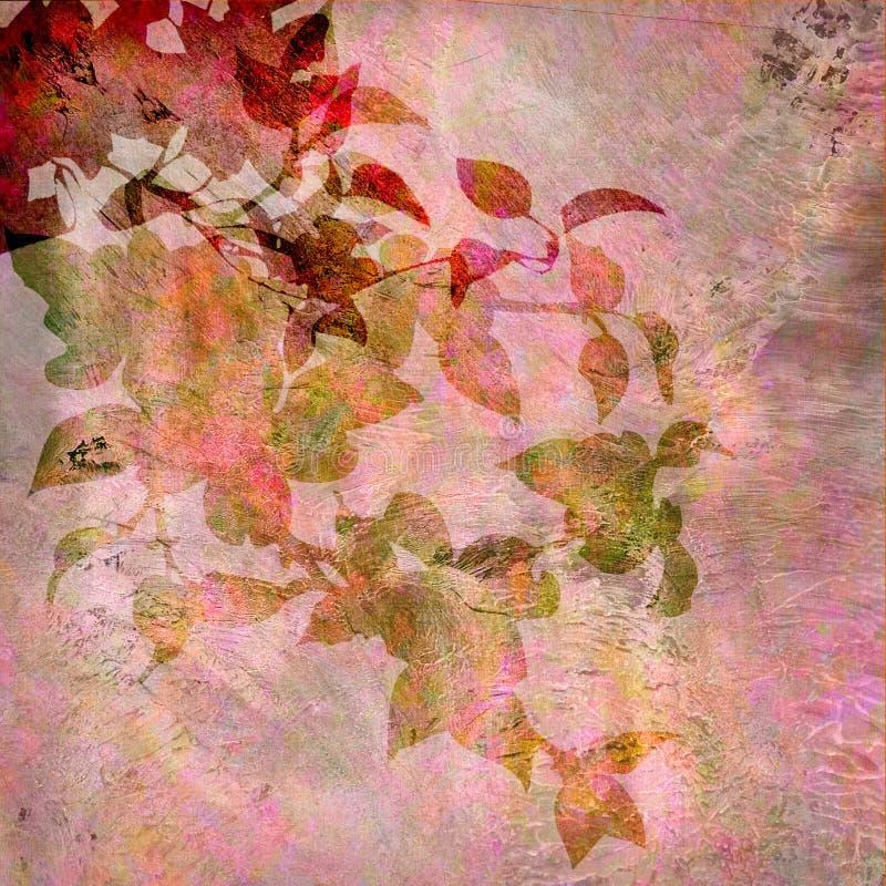Uitstekende roze bloemenachtergrond vector illustratie
