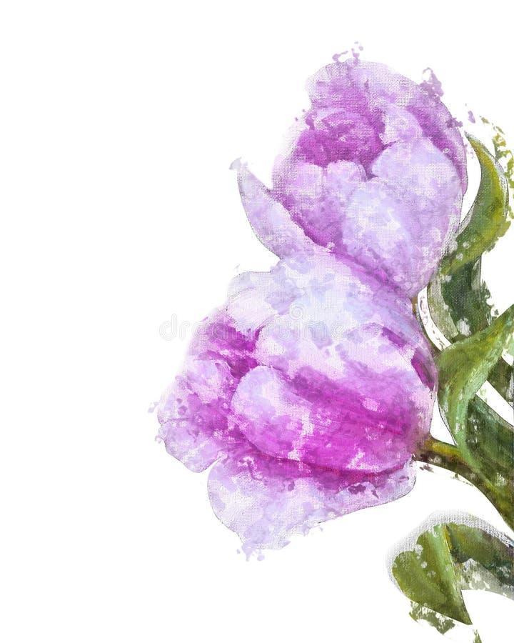Uitstekende Roze Tulpen royalty-vrije illustratie