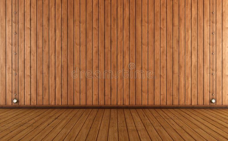 Uitstekende Ruimte Met Het Houten Muur Met Panelen Bekleden Stock Foto u0026#39;s   Afbeelding  35131313