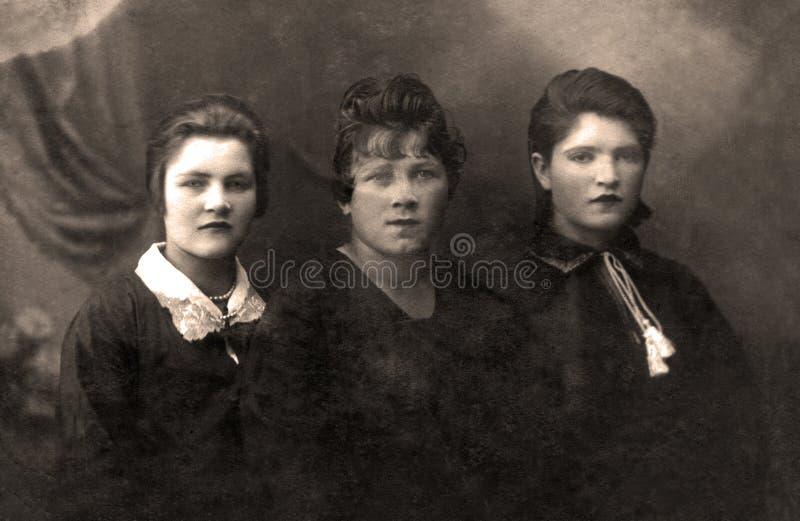 Uitstekende Russische familie stock afbeeldingen