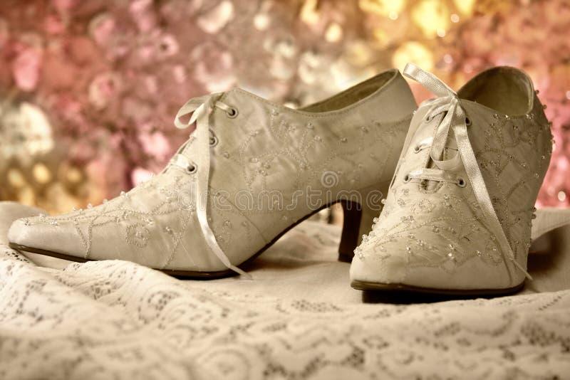 Uitstekende schoenen royalty-vrije stock fotografie
