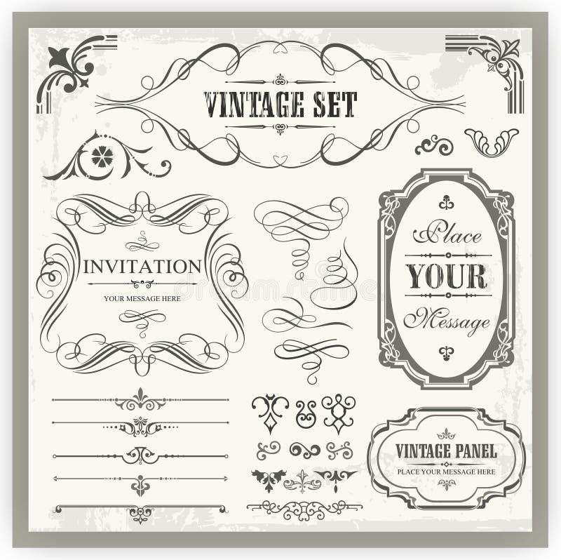 Uitstekende Sier Kalligrafische Ontwerpen stock illustratie