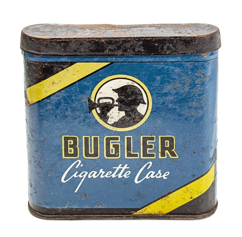 Uitstekende sigaretdoos stock afbeelding