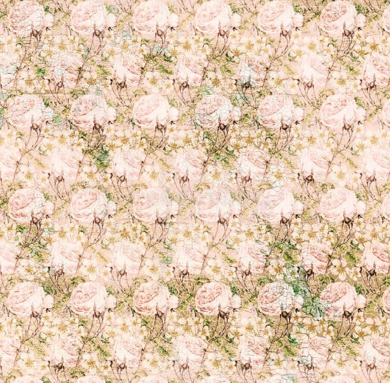 Uitstekende sjofele roze elegant nam achtergrondtextuur toe royalty-vrije illustratie