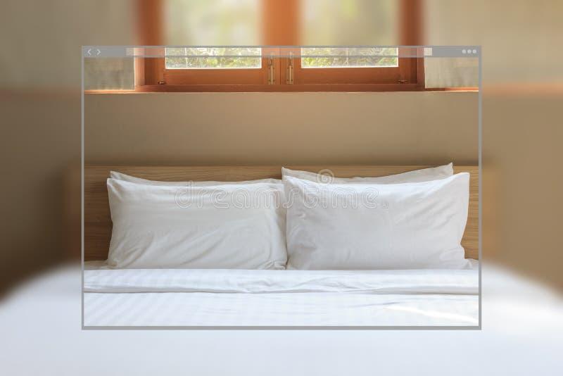 Uitstekende slaapkamer binnenlandse achtergrond stock afbeelding
