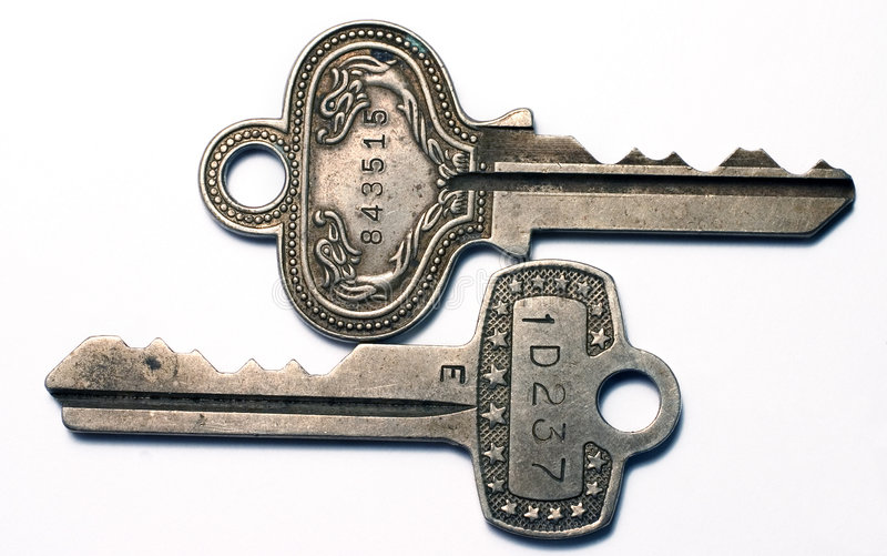 Uitstekende Sleutels royalty-vrije stock fotografie