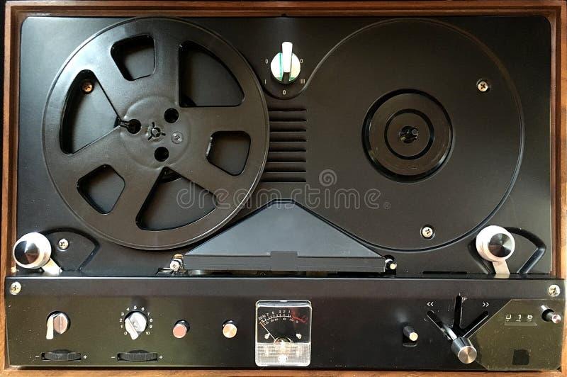 Uitstekende Spoel om Audiospeler te winden stock foto