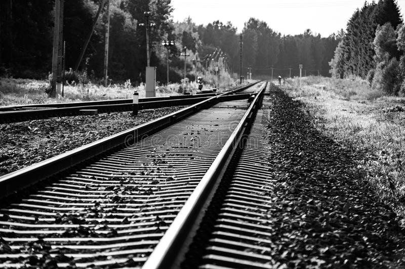 Uitstekende spoorweg aan de Russische Federatie royalty-vrije stock afbeeldingen