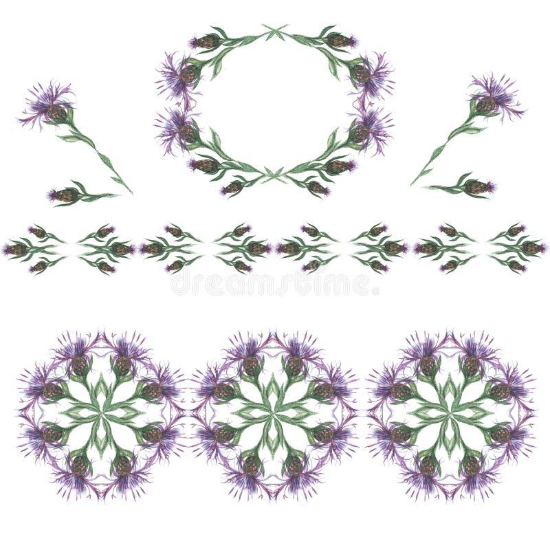 uitstekende stijl Bloemen ontwerp? achtergrond, achtergrond, illustratie Patroon 08 Waterverfkaart malplaatje stock afbeeldingen