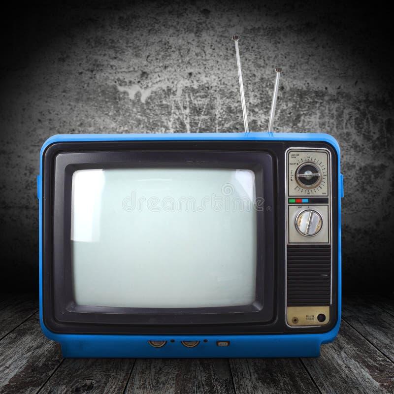Uitstekende stijl oude televisie stock foto's