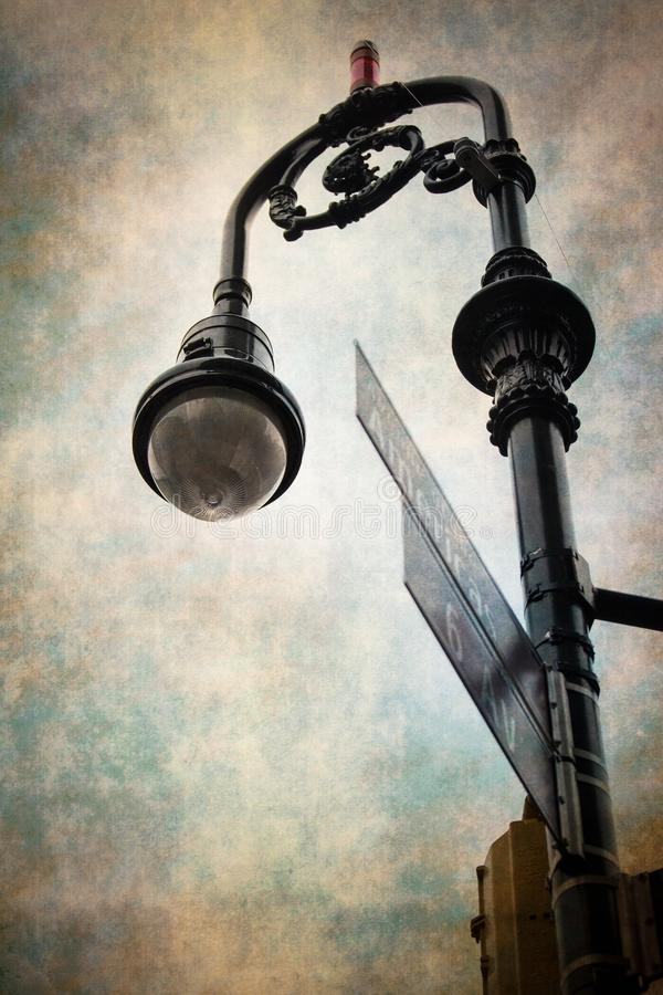 Uitstekende stijllamp Postnyc stock foto