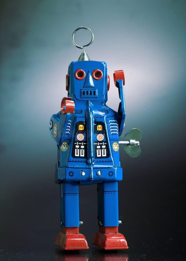 Uitstekende stuk speelgoed robot royalty-vrije stock fotografie