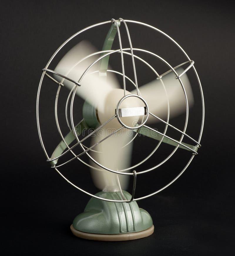 Uitstekende tafelblad elektrische ventilator stock fotografie