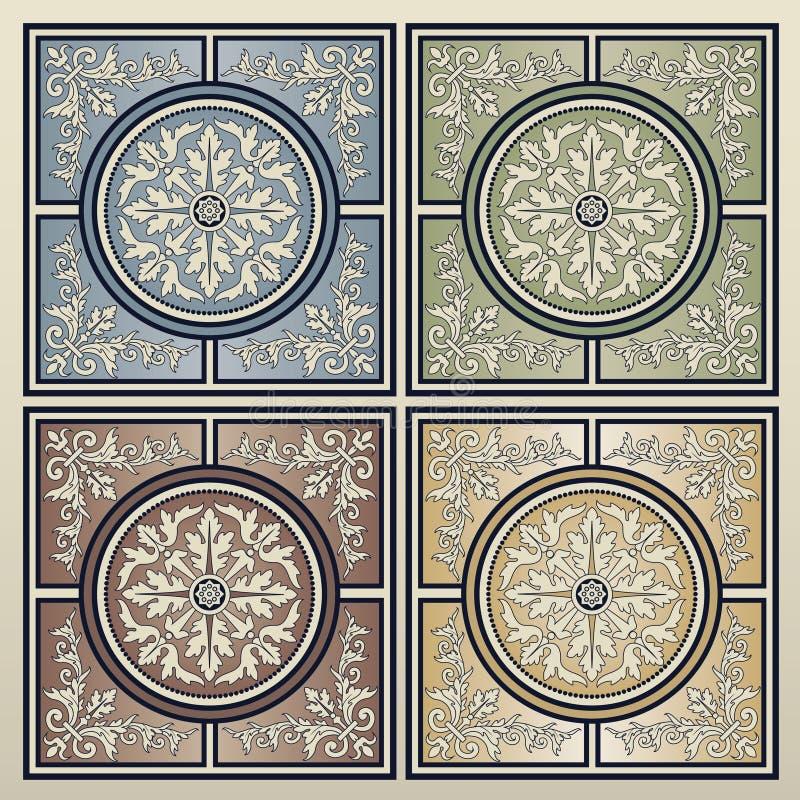 Uitstekende tegels royalty-vrije stock afbeeldingen