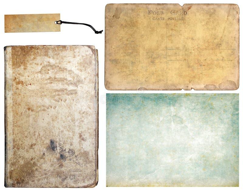 Uitstekende textureninzameling stock fotografie