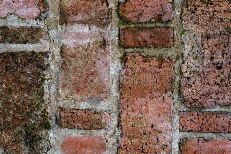 Uitstekende textuur van oud metselwerk in dichte mening royalty-vrije stock foto's