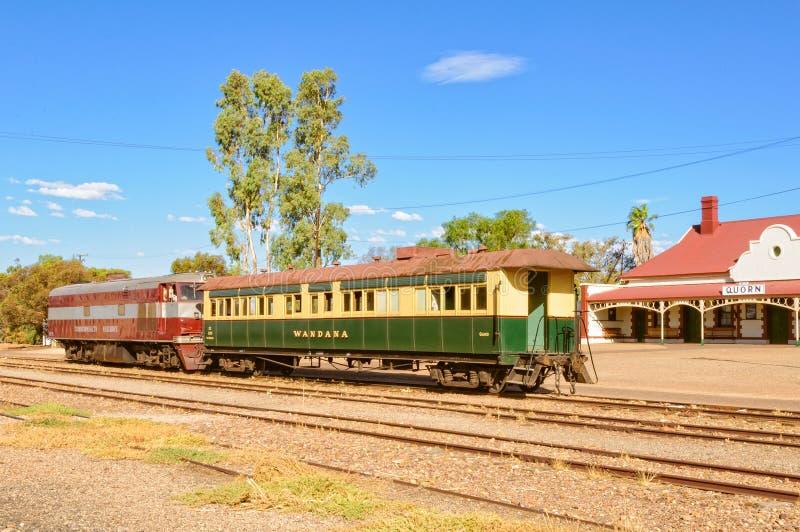 Uitstekende trein - Quorn royalty-vrije stock afbeeldingen