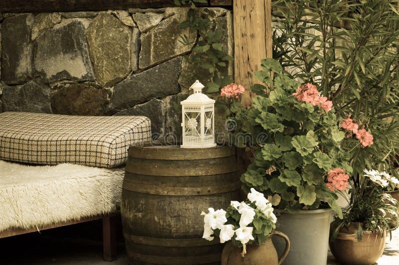 Uitstekende tuin royalty-vrije stock fotografie
