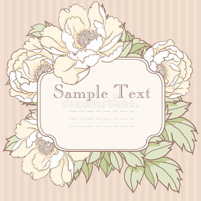 Uitstekende uitnodigingskaart vector illustratie