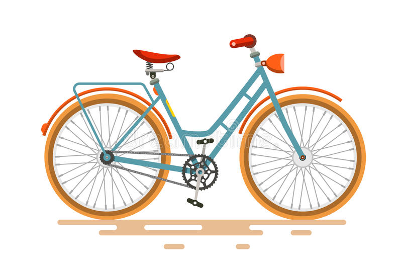 Uitstekende Vectorfiets Retro fiets stock illustratie