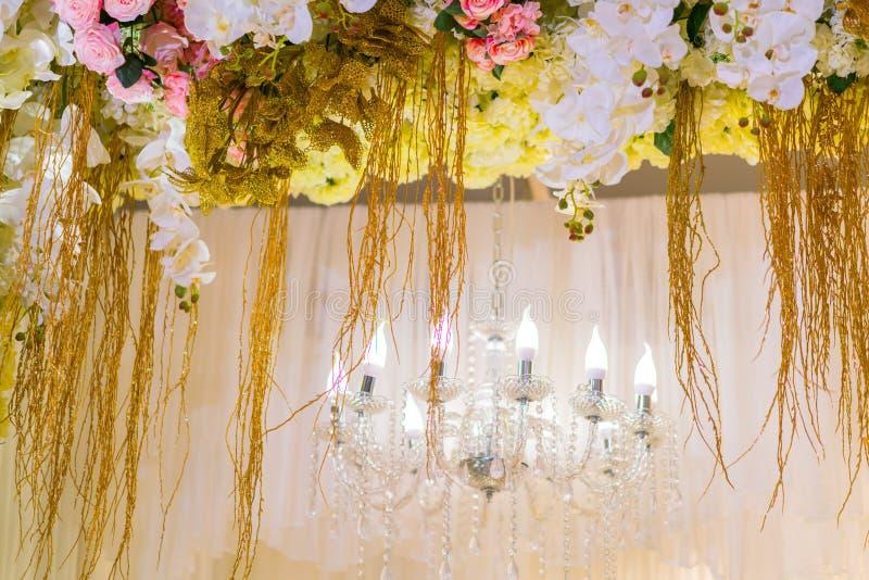 Uitstekende Verlichtingsdecoratie voor huwelijk royalty-vrije stock afbeeldingen