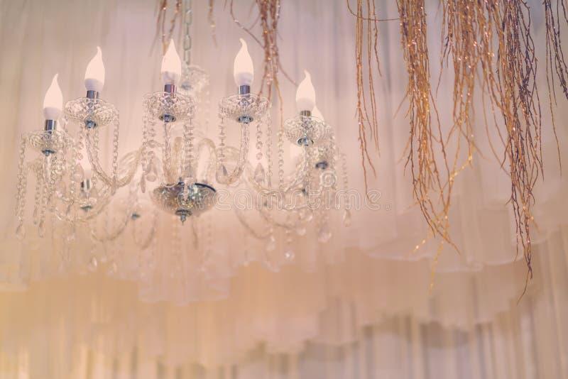 Uitstekende Verlichtingsdecoratie voor huwelijk royalty-vrije stock fotografie