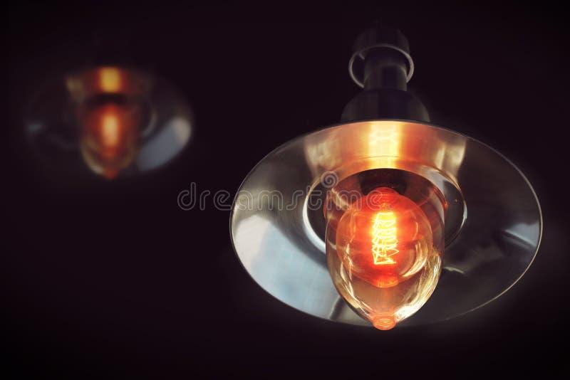 Uitstekende verlichtingslamp voor decoratiehuis stock foto's