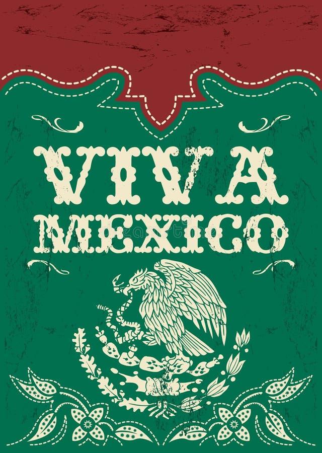 Uitstekende Viva Mexico - Mexicaanse vakantievector royalty-vrije illustratie