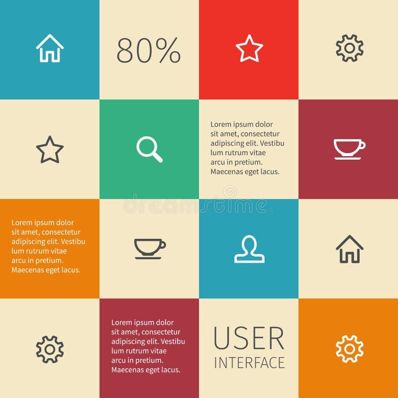 Uitstekende vlak geregelde infographics vector illustratie