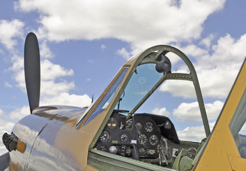 Uitstekende vliegtuigcockpit royalty-vrije stock fotografie