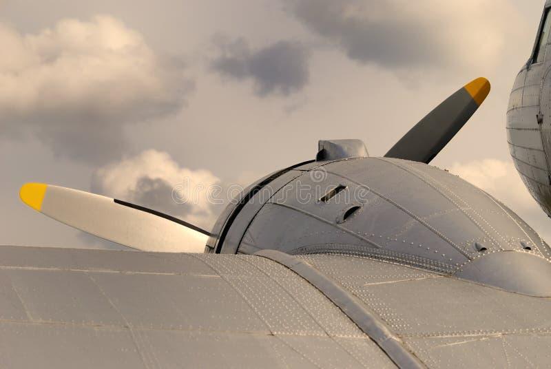 Uitstekende vliegtuigen stock foto