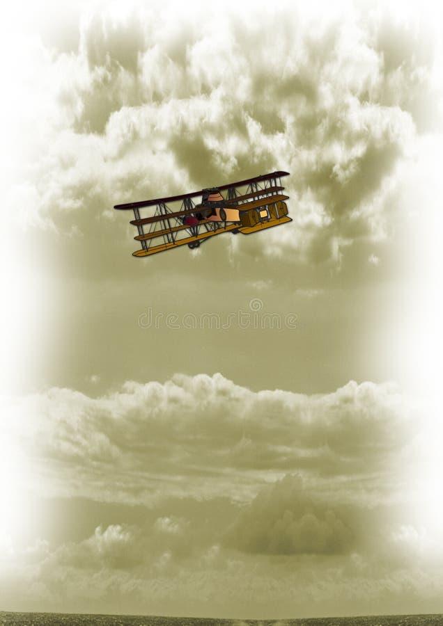 Uitstekende vliegtuigen stock afbeelding