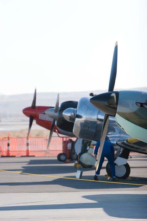 Uitstekende vliegtuigen royalty-vrije stock afbeeldingen