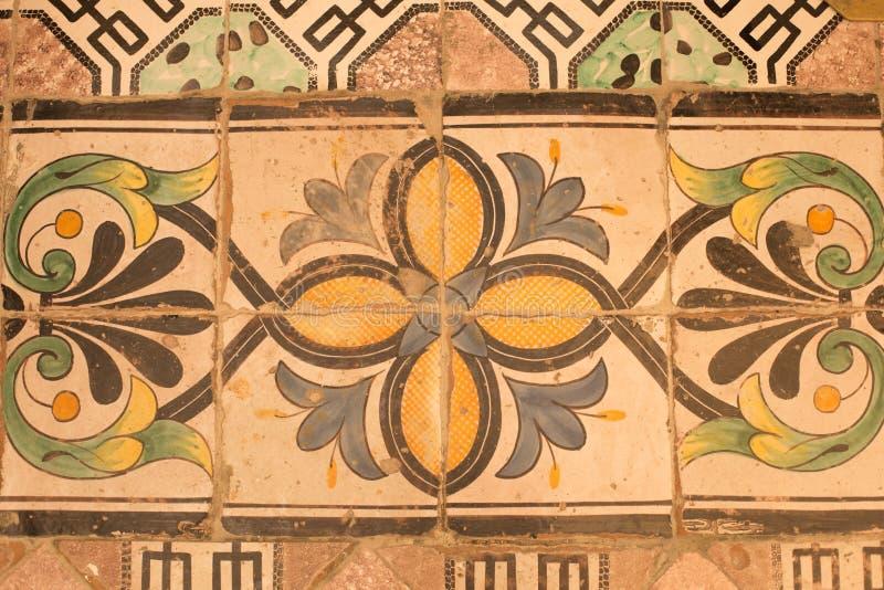 Uitstekende vloertegels in de Kathedraal van San Pantaleone, Ravello, Italië royalty-vrije stock foto's